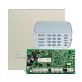 DSC PC1616 szett fémdobozzal + PK5516 kezelő