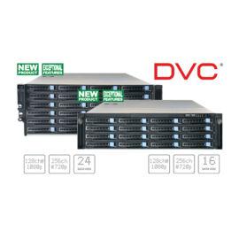DVC DSN-7424 128 1080P/256 720P csatornás hálózati tároló szerver 24xHDD Linux OS