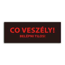 """Detnov RCOD-500 jelzőtábla matrica """"CO veszély Belépni tilos!"""""""