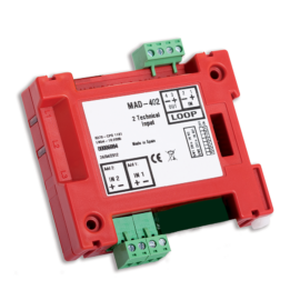 Detnov MAD-402-I intelligens monitor modul 2 bemenettel izolátorral