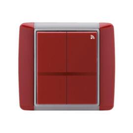 Enika P8 T 4 Element 24 Kármin vörös felületre szerelhető jeladó (1041520)