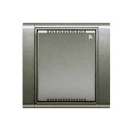 Enika P8 T Temp/RH Time 34 Antracit hőmérséklet és páratartalom érzékelő (1046324)