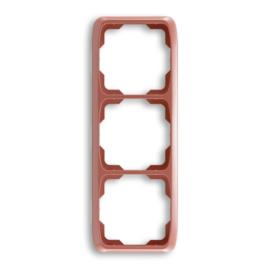 ABB kapcsoló keret 3-as függőleges Tango Hanga piros (3901A-B31 R2)