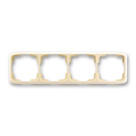 ABB kapcsoló keret 4-es vízszintes Tango Csontfehér (3901A-B40 C)