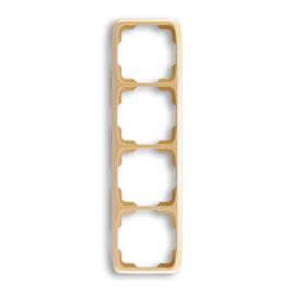 ABB kapcsoló keret 4-es függőleges Tango Bézs (3901A-B41 D)