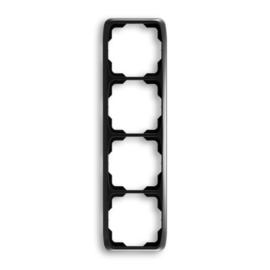 ABB kapcsoló keret 4-es függőleges Tango Fekete (3901A-B41 N)