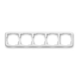 ABB kapcsoló keret 5-ös vízszintes Tango Fehér (3901A-B50 B)