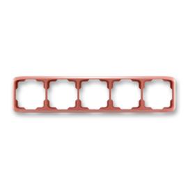 ABB kapcsoló keret 5-ös vízszintes Tango Hanga piros (3901A-B50 R2)