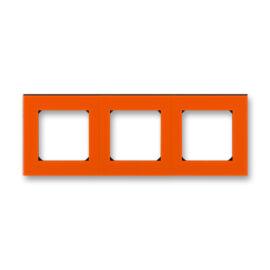 ABB kapcsoló keret 3-as Levit Narancs / Fekete (3901H-A05030 66)