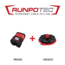Runpotec RUNPOMETER RM35 digitális kábelhosszmérő műszer + XB300 profi kábelcsévélő (111430)
