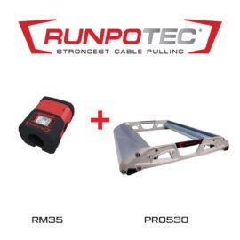 Runpotec PRO530 kábeldob lecsévélő + RM35 kábelhosszmérő (987720)
