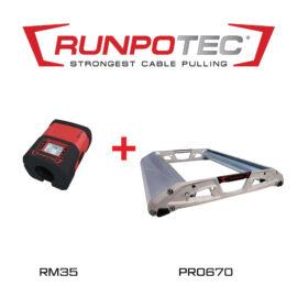 Runpotec PRO670 kábeldob lecsévélő + RM35 kábelhosszmérő (987721)