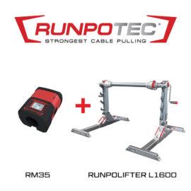 Runpotec RUNPOLIFTER 4500 kábeldobemelő L1600 + RM35 kábelhosszmérő (987725)