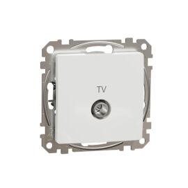 Schneider SDD111471 SEDNA TV aljzat, végzáró, 4 dB, fehér