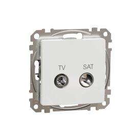 Schneider SDD111471S SEDNA TV/SAT aljzat, végzáró, 4 dB, fehér