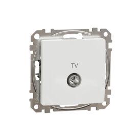 Schneider SDD111474 SEDNA TV aljzat, átmenő, 7 dB, fehér