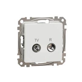 Schneider SDD111474R SEDNA TV/R aljzat, átmenő, 7 dB, fehér