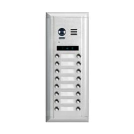 V-TEK DMR11S/D16 kültéri kaputelefon 16 gombos, társasházi lakásokhoz