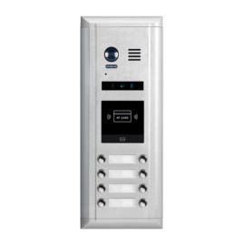 V-TEK DMR11S/ID/D8 kültéri kaputelefon 8 gombos, társasházi lakásokhoz, RFID