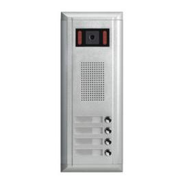 V-TEK DMR11S/S4/F1 kültéri kaputelefon 4 gombos, társasházi lakásokhoz