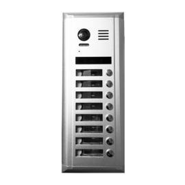 V-TEK DMR11S/S8 kültéri kaputelefon 8 gombos, társasházi lakásokhoz