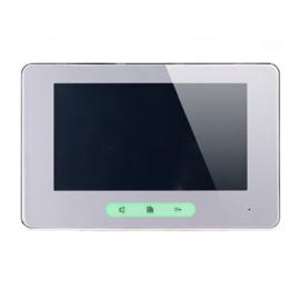 V-TEK DT37M/TD7  led kijelzős kaputelefon, vékony kialakítású kompatibilis az összes bel,- kültéri eszközzel