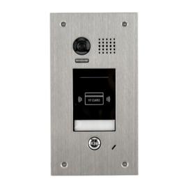 V-TEK DT601F/ID  kültéri kaputelefon beépített kamerával, süllyesztett, fémházas kivitel IP54, kártyaolvasó