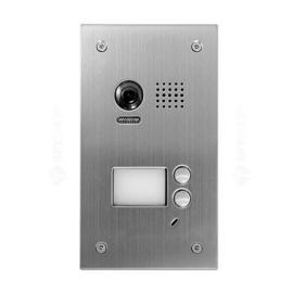 V-TEK DT603SDF-FE két gombos kültéri kaputelefon beépített kamerával, süllyesztett, fémházas kivitel IP54
