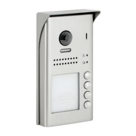 V-TEK DT607/FE/ID/S4/RH négy gombos kültéri kaputelefon beépített kamerával, felület szerelt, fémházas kivitel IP54