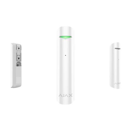 AJAX GlassProtect WH vezeték nélküli üvegtörés érzékelő fehér