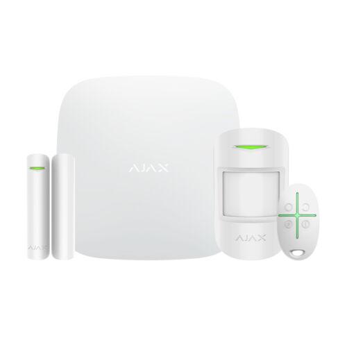 AJAX Starter szett WH /1 HUB, 1 MotionProtect, 1 DoorProtect, 1 SpaceControl/