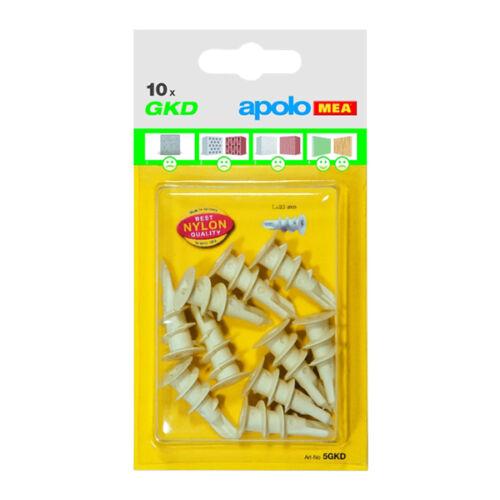 CELO 5GKD10 műanyag önfúró gipszkartontipli 10db/bliszter