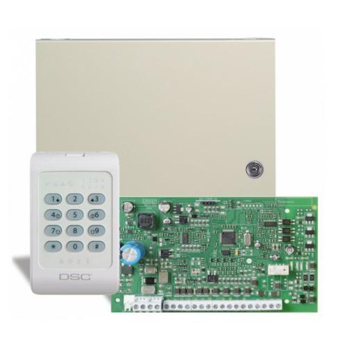 DSC PC1404 riasztó központ +PC1404RKZ kezelő
