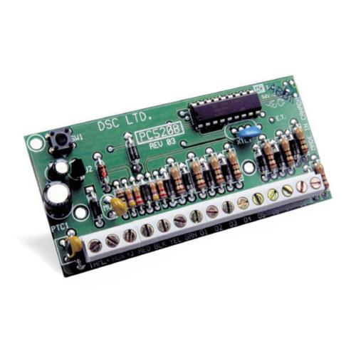 DSC PC5208 feszültség kimeneti modul, 8 db PGM, OC kimenet