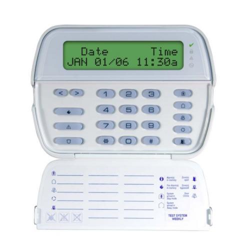 DSC PK5500 magyar nyelvű LCD kezelő POWER központokhoz, 2*14 karakteres