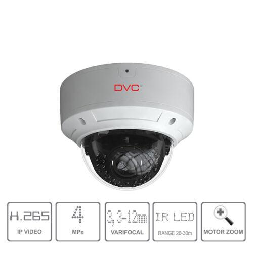 DVC DCN-VV743A IP kamera dome 3Mpx/25fps motoros zoom 3,3-12mm H.265 audio bemenet