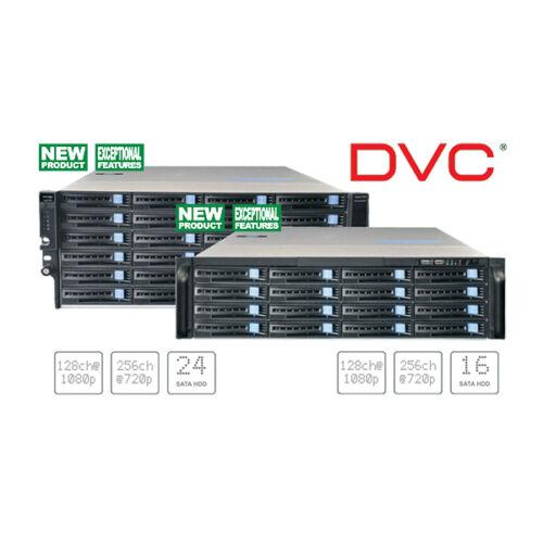 DVC DSN-7416 128 1080P/256 720P csatornás hálózati tároló szerver 16xHDD Linux OS