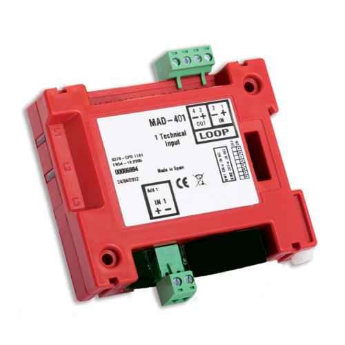 Detnov MAD-401-I intelligens monitor modul 1 bemenettel izolátorral
