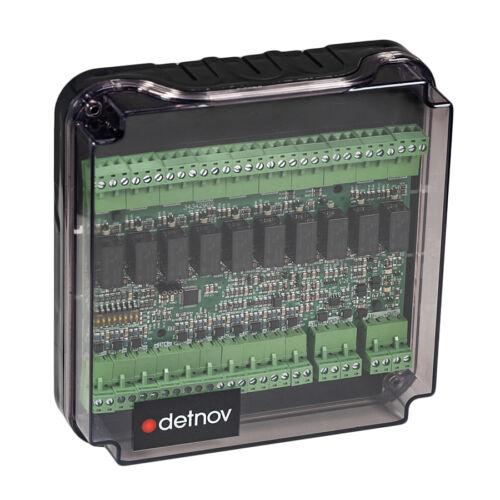 Detnov MAD-429-I intelligens vezérlőmodul 10 be- és 10 kimenettel izolátorral