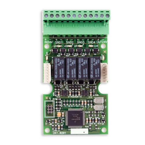 Detnov TSD-100 bővítőkártya 4db felügyelt hangjelzőkimenettel