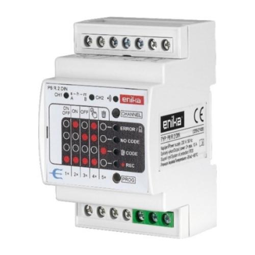 Enika P8 R 2 DIN AC Kétcsatornás vevő beléptető rendszerekhez (1050957)