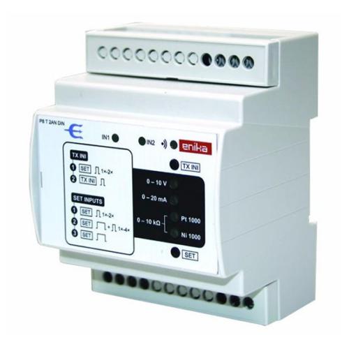 Enika P8 T 2AN DIN Kétcsatornás analóg jelátviteli eszköz / jeladó (1053142)