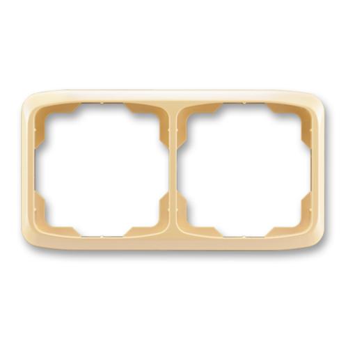 ABB kapcsoló keret 2-es vízszintes Tango Bézs (3901A-B20 D)
