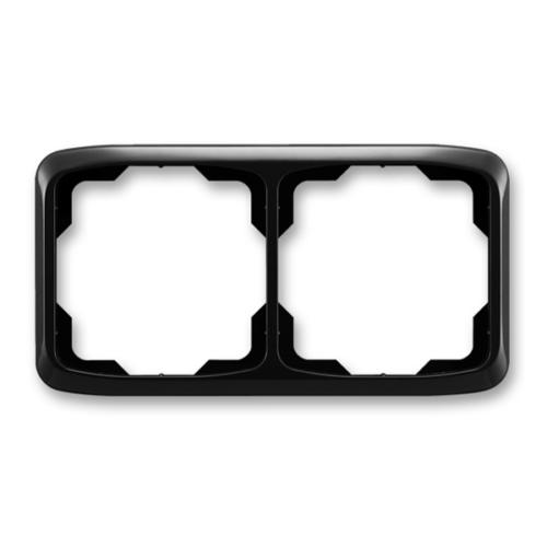 ABB kapcsoló keret 2-es vízszintes Tango Fekete (3901A-B20 N)
