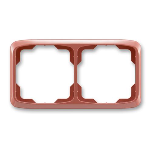 ABB kapcsoló keret 2-es vízszintes Tango Hanga piros (3901A-B20 R2)