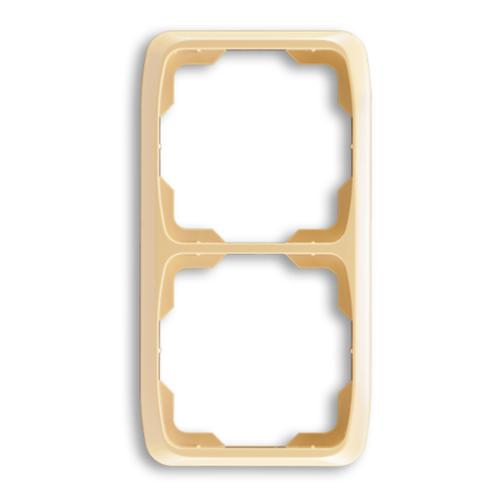 ABB kapcsoló keret 2-es függőleges Tango Csontfehér (3901A-B21 C)
