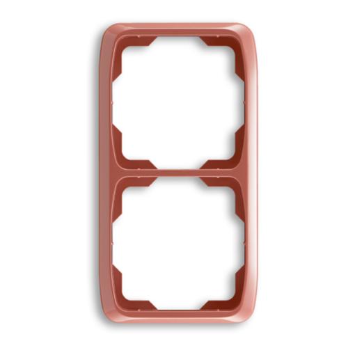 ABB kapcsoló keret 2-es függőleges Tango Hanga piros (3901A-B21 R2)
