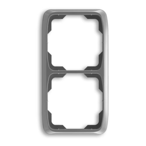 ABB kapcsoló keret 2-es függőleges Tango Füst szürke (3901A-B21 S2)