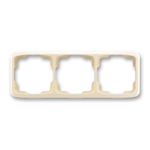 ABB kapcsoló keret 3-as vízszintes Tango Csontfehér (3901A-B30 C)