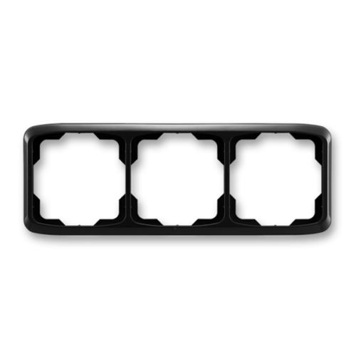 ABB kapcsoló keret 3-as vízszintes Tango Fekete (3901A-B30 N)